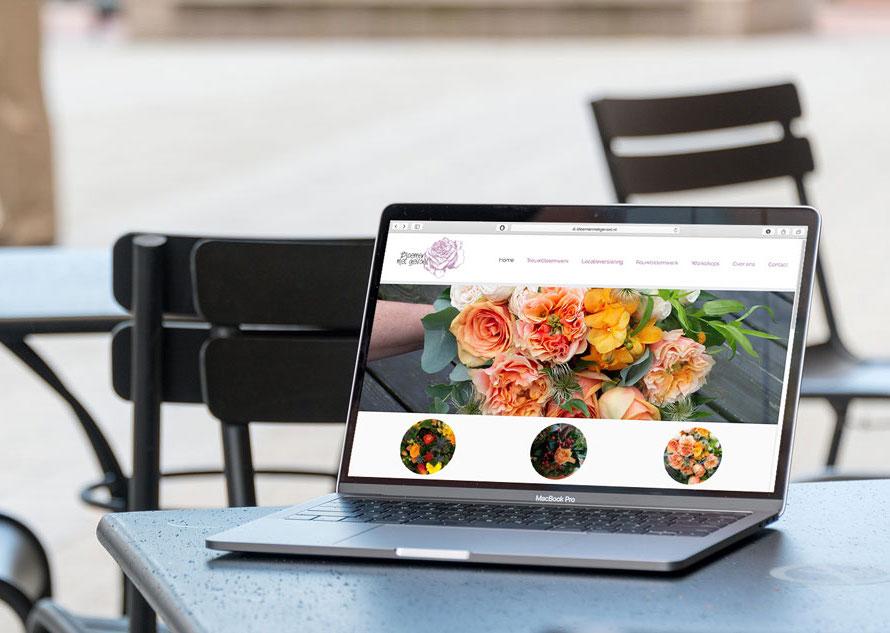 Website Bloemen met gevoel door Nien design