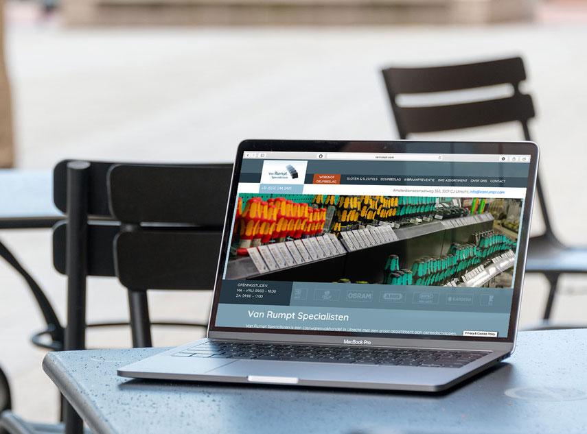 Website van Rumpt specialisten door Nien design