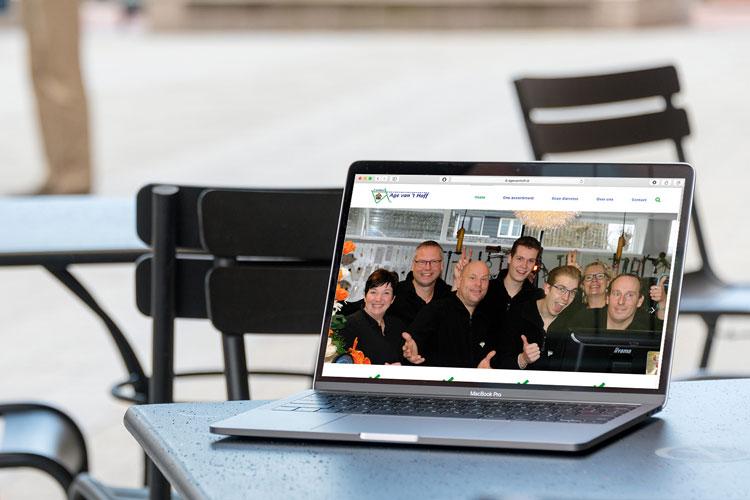 Website Age van 't Hoff 2-wielers gemaakt door Nien design