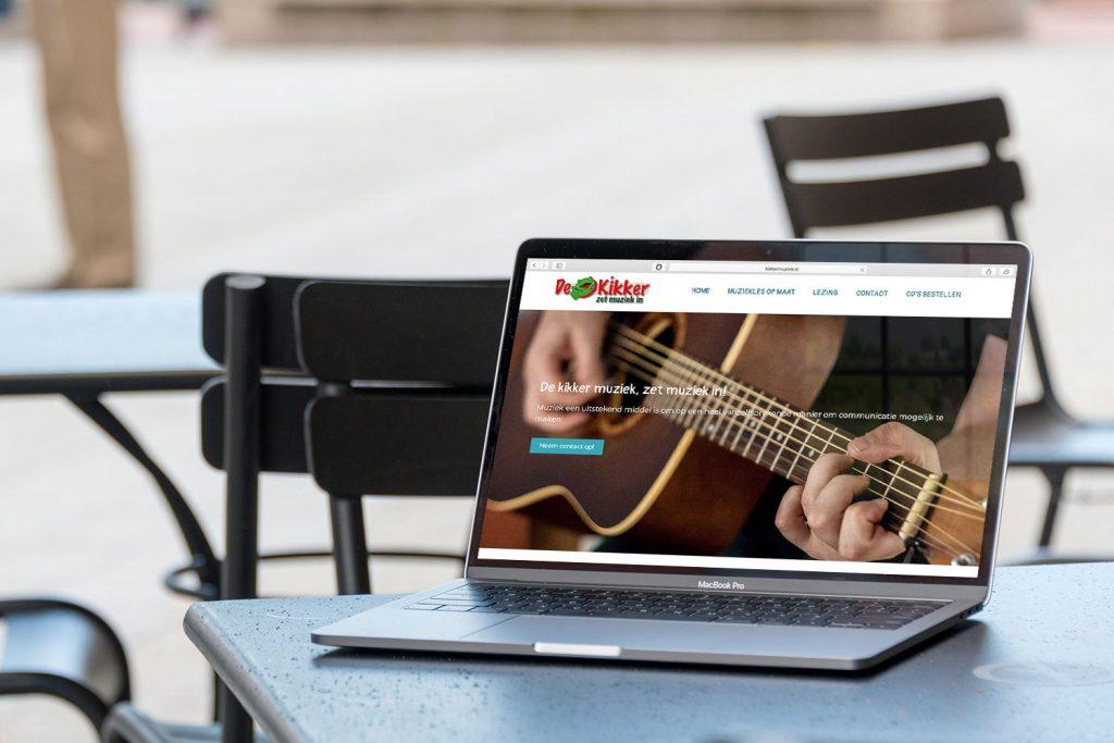 Website de Kikker gemaakt door Nien design